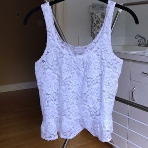 White Lace Gilly Hicks Tank